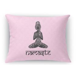 Lotus Pose Rectangular Throw Pillow Case (Personalized)