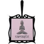 Lotus Pose Trivet with Handle (Personalized)