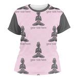 Lotus Pose Women's Crew T-Shirt (Personalized)
