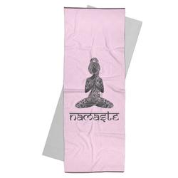 Lotus Pose Yoga Mat Towel (Personalized)
