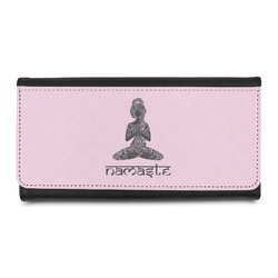 Lotus Pose Leatherette Ladies Wallet (Personalized)