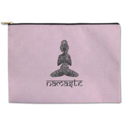 Lotus Pose Zipper Pouch (Personalized)