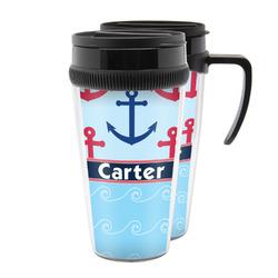 Anchors & Waves Acrylic Travel Mugs (Personalized)