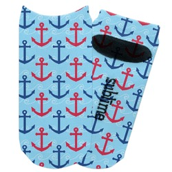 Anchors & Waves Adult Ankle Socks (Personalized)