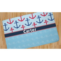 Anchors & Waves Area Rug - 5'x8' (Personalized)