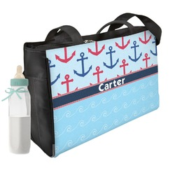 Anchors & Waves Diaper Bag (Personalized)
