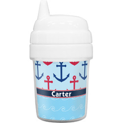 Anchors & Waves Baby Sippy Cup (Personalized)