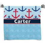Anchors & Waves Full Print Bath Towel (Personalized)