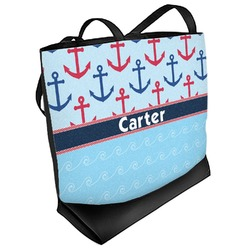 Anchors & Waves Beach Tote Bag (Personalized)
