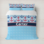 Anchors & Waves Duvet Cover (Personalized)