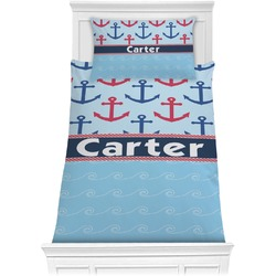 Anchors & Waves Comforter Set - Twin XL (Personalized)