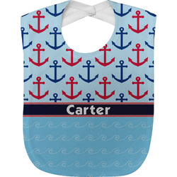 Anchors & Waves Baby Bib (Personalized)