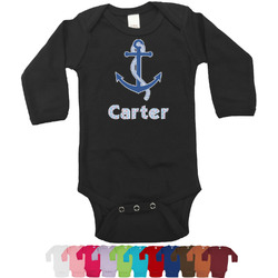 Anchors & Waves Long Sleeves Bodysuit - 12 Colors (Personalized)