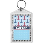 Anchors & Waves Bling Keychain (Personalized)