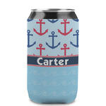 Anchors & Waves Can Sleeve (12 oz) (Personalized)