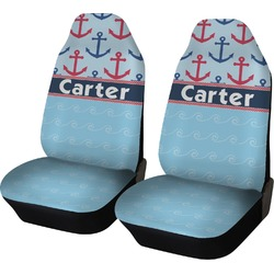 Anchors & Waves Car Seat Covers (Set of Two) (Personalized)