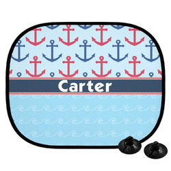 Anchors & Waves Car Side Window Sun Shade (Personalized)