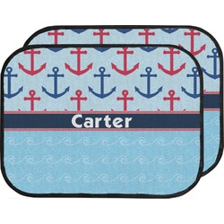Anchors & Waves Car Floor Mats (Back Seat) (Personalized)