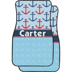 Anchors & Waves Car Floor Mats (Front Seat) (Personalized)
