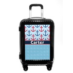 Anchors & Waves Carry On Hard Shell Suitcase (Personalized)