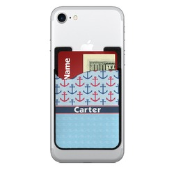 Anchors & Waves 2-in-1 Cell Phone Credit Card Holder & Screen Cleaner (Personalized)
