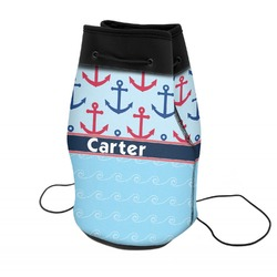 Anchors & Waves Neoprene Drawstring Backpack (Personalized)