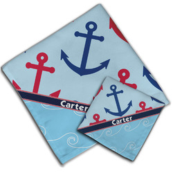 Anchors & Waves Cloth Napkin w/ Name or Text