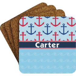 Anchors & Waves Coaster Set (Personalized)