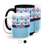 Anchors & Waves Coffee Mugs (Personalized)