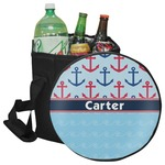 Anchors & Waves Collapsible Cooler & Seat (Personalized)