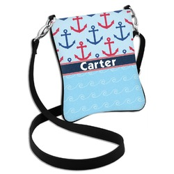 Anchors & Waves Cross Body Bag - 2 Sizes (Personalized)