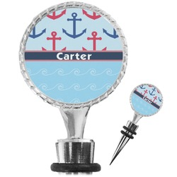 Anchors & Waves Wine Bottle Stopper (Personalized)