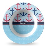 Anchors & Waves Plastic Bowl - Microwave Safe - Composite Polymer (Personalized)