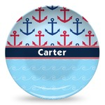 Anchors & Waves Microwave Safe Plastic Plate - Composite Polymer (Personalized)
