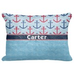 "Anchors & Waves Decorative Baby Pillowcase - 16""x12"" (Personalized)"