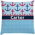 Anchors & Waves Decorative Pillow Case (Personalized)