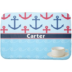 Anchors & Waves Dish Drying Mat (Personalized)