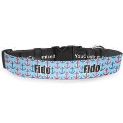 Anchors & Waves Deluxe Dog Collar (Personalized)