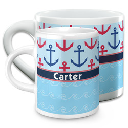 Anchors & Waves Espresso Cups (Personalized)
