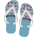Anchors & Waves Flip Flops (Personalized)
