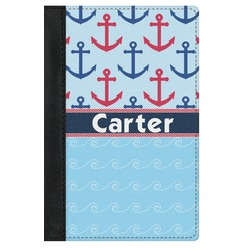 Anchors & Waves Genuine Leather Passport Cover (Personalized)