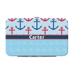 Anchors & Waves Genuine Leather Small Framed Wallet (Personalized)
