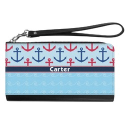 Anchors & Waves Genuine Leather Smartphone Wrist Wallet (Personalized)