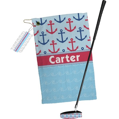 Anchors & Waves Golf Towel Gift Set (Personalized)