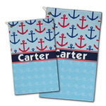 Anchors & Waves Golf Towel - Full Print w/ Name or Text