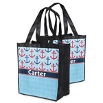 Anchors & Waves Grocery Bag (Personalized)