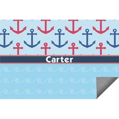Anchors & Waves Indoor / Outdoor Rug - 8'x10' (Personalized)