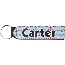 Anchors & Waves Neoprene Keychain Fob (Personalized)