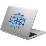 Anchors & Waves Laptop Decal (Personalized)