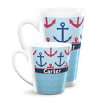 Anchors & Waves Latte Mug (Personalized)
